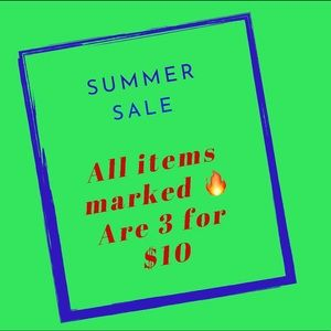 Sale!! All items marked 🔥 are 3 for $10